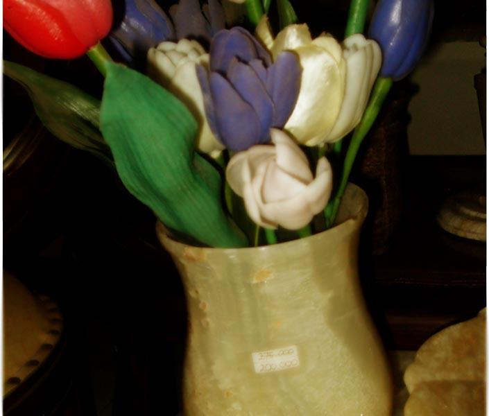 vas bunga, batu marmer, batu onyx