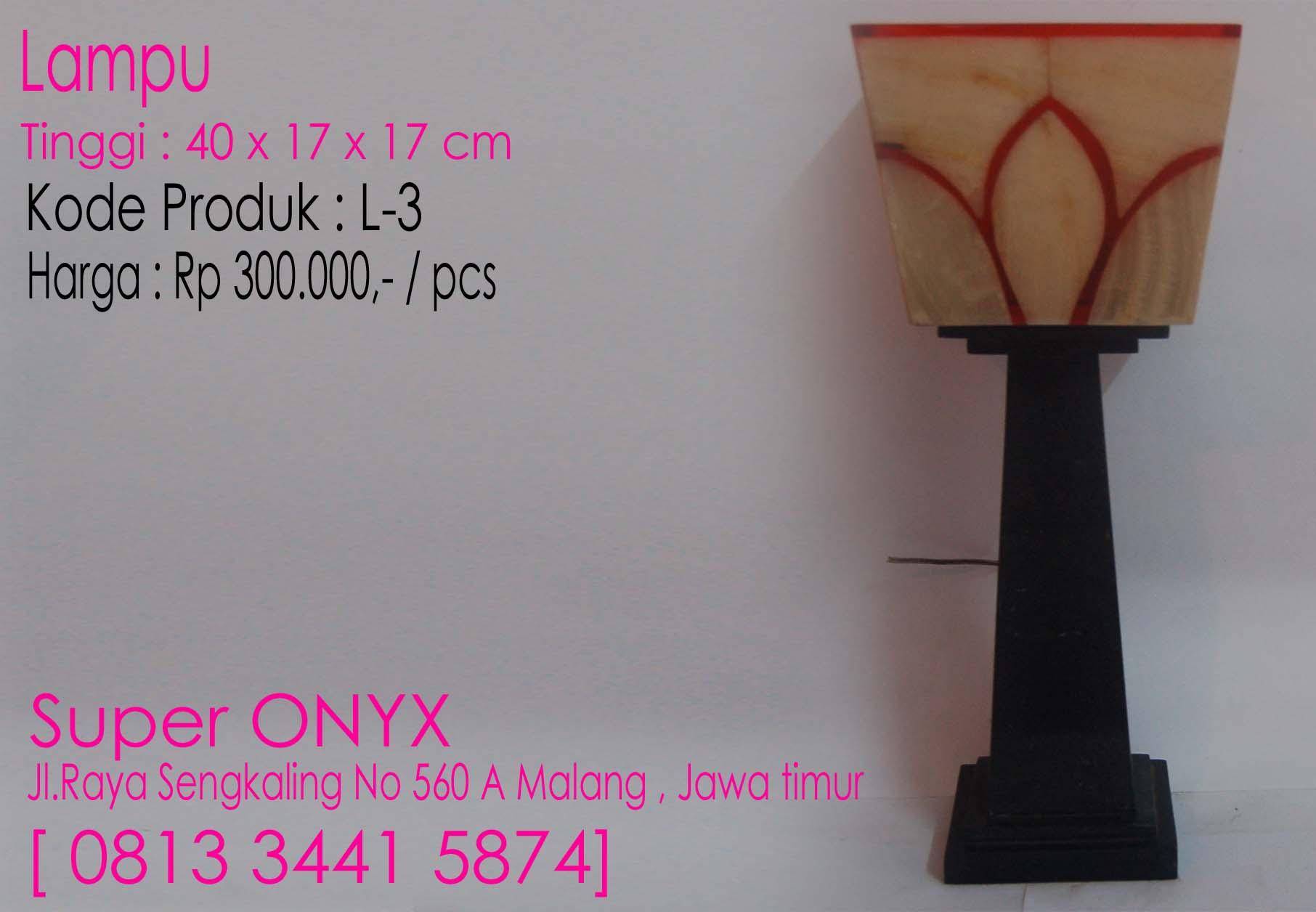 JUAL SOUVENIR ONYX MARMER , Lampu3