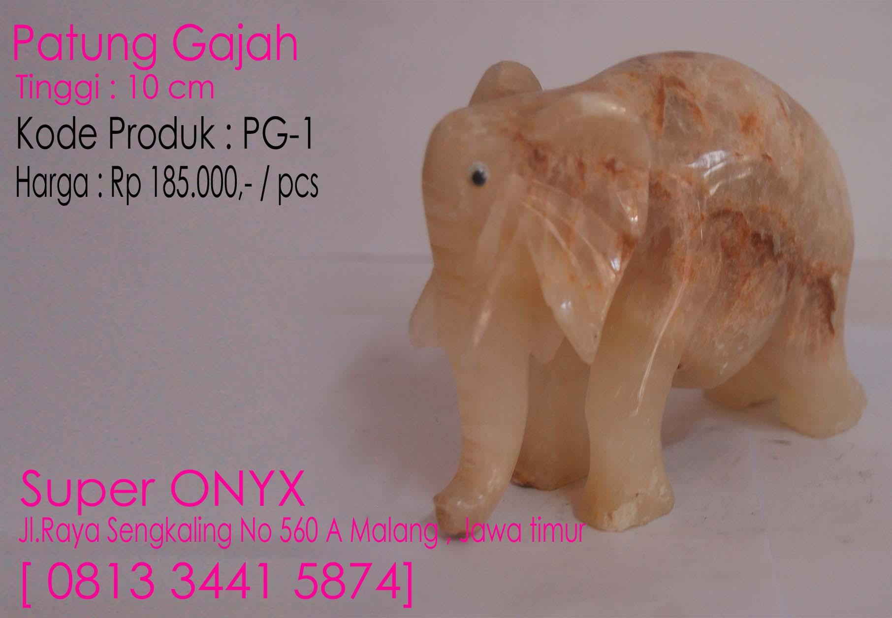 JUAL SOUVENIR ONYX MARMER , Patung Gajah1